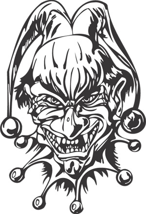 Evil Jester Drawings http://www.tattoodonkey.com/-drawings-scary-clown-evil-jester-drawing-joker-art/signdezine.co.uk*vinyl_graphics*prodimages*large*clown_011.jpg/